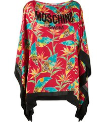 moschino teddy-bear beach cover-up - red