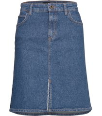 denim skirt knälång kjol blå marc o'polo