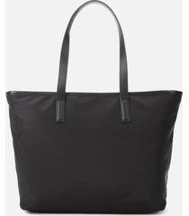 karl lagerfeld women's k/ikonik nylon tote bag - black
