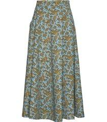 avril paisley print knälång kjol multi/mönstrad whyred