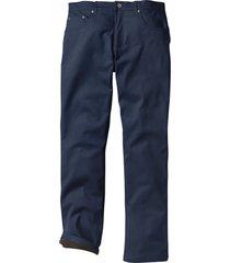 pantaloni termici elasticizzati regular fit straight (blu) - bpc bonprix collection