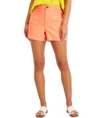 style & co solid sailor shorts, created for macy's