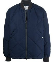 acne studios relaxed-fit bomber jacket - blue