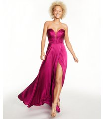 b darlin juniors' sweetheart ruched gown