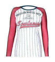 rash guard feminina baseball spartanus fightwear