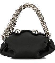 0711 nino embellished tote bag - black