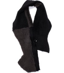 patchwork lambskin shearling scarf