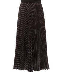 miu miu pleated midi skirt with miu miu flower print