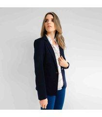 blazer para mujer en poliester color azul talla xl