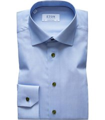 eton overhemd licht contemporary fit blauw