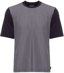 emporio armani blue striped t-shirt 3z1t65-1jsvz