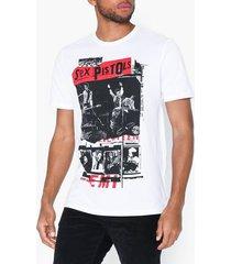 only & sons onssexpistols reg ss tee t-shirts & linnen vit