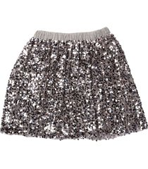 douuod skirt with sequins melange gray