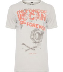 t-shirt masculina ride forever - cinza