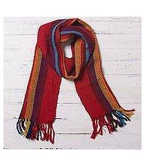 100% alpaca scarf, 'andean kaleidoscope' (peru)
