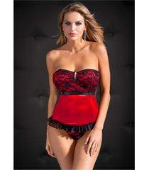 corsetto + perizoma (set 2 pezzi) (rosso) - venus