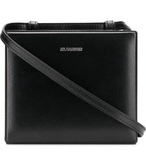 jil sander case mini box cross-body bag - black