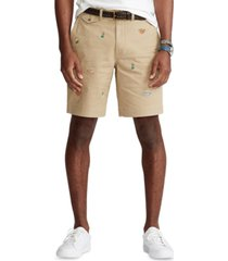 polo ralph lauren men's 9-inch stretch classic-fit chino shorts