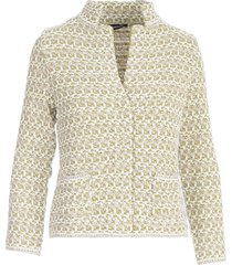anneclaire lurex guru neck l/s jacket