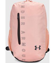 morral  rosa-negro under armour backpack