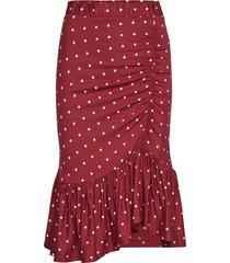 julie knälång kjol röd baum und pferdgarten