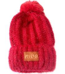 gorro de lana enladrillado rojo niba