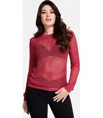sweter z kontrastującymi wstawkami