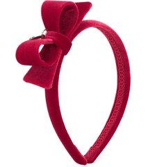 monnalisa velvet thin headband - red