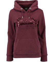 hoodie sequin bordeaux