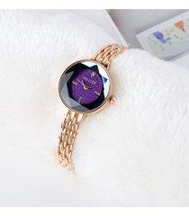 orologi da donna alla moda cinturino in oro rosa alla moda sottile cinturino in quarzo minimalista per le donne