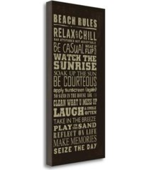 "tangletown fine art beach rules by jim baldwin giclee print on gallery wrap canvas, 14"" x 28"""