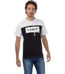 camiseta masculina capuz branco - branco - masculino - dafiti