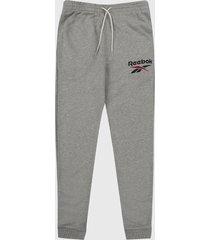 pantalón gris reebok identity big logo