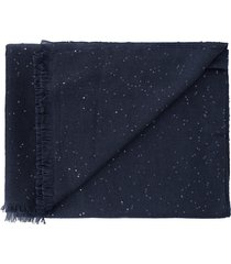 midnight cashmere silk and paillette scarf
