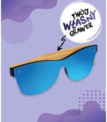 okulary przeciwsłoneczne drewniane z własnym nadrukiem