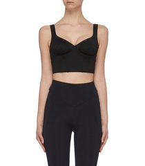 'jade' performance crop top