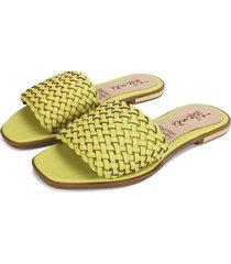 sandalia dama verde limón tellenzi 816