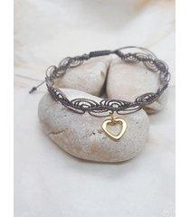 bransoletka - makrama - serce