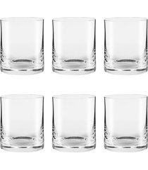 conjunto de 6 copos de cristal on the rocks 410ml classic - multicolorido - dafiti