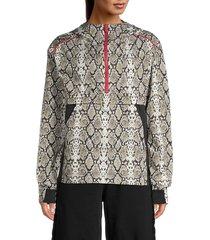 alala women's snake-print hoodie - snake - size s