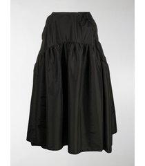 cecilie bahnsen high-waist tiered midi skirt