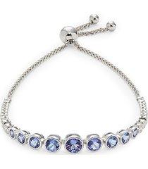 effy women's 14k white gold, tanzanite & diamond bolo bracelet