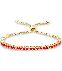 gabi rielle women's i heart you 14k gold vermeil sterling silver bracelet