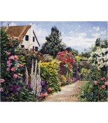 "david lloyd glover rose house garden wall canvas art - 37"" x 49"""