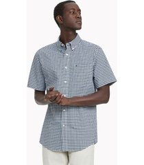 tommy hilfiger men's classic fit essential check shirt navy/white - xxxl