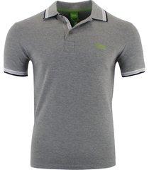 hugo boss men's short sleeve modern fit 100% cotton polo shirt gray s m l xl xxl