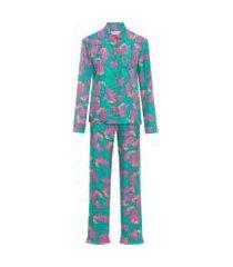 pijama feminino adelaine - verde