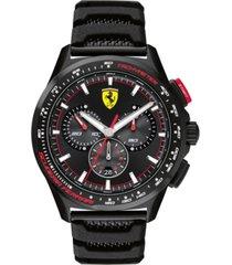 ferrari limited edition men's swiss chronograph pilota evo black silicone strap watch 44mm