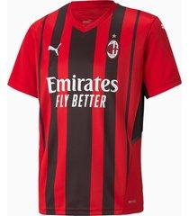 ac milan home replica jeugd trui, zwart/rood, maat 140 | puma