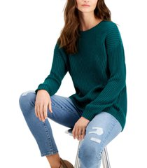 style & co petite directional rib pullover sweater, created for macy's